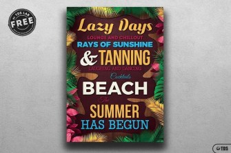 Free Summer Quotes Flyer Template
