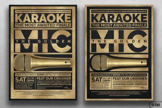 Karaoke Flyer Template psd V5