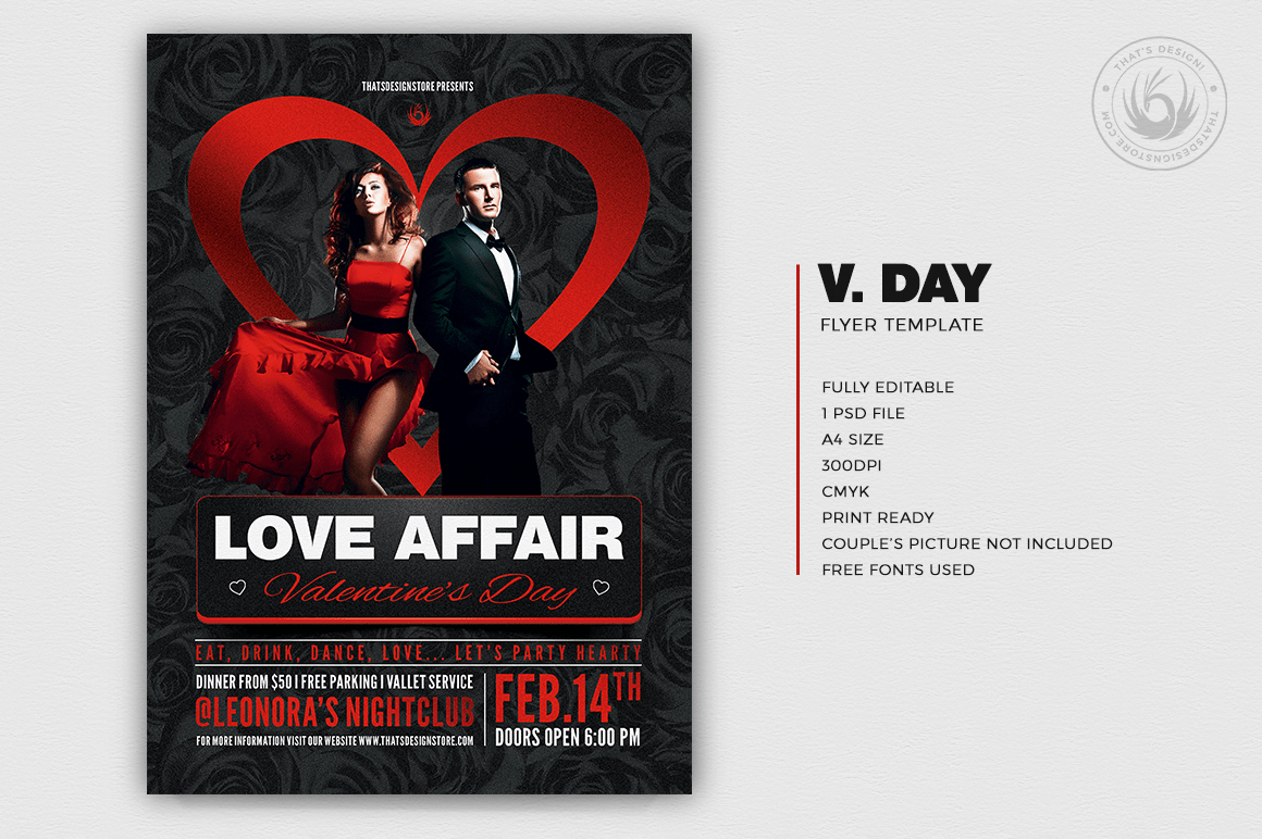 Valentines Day Flyer Template V1 Thats Design Store