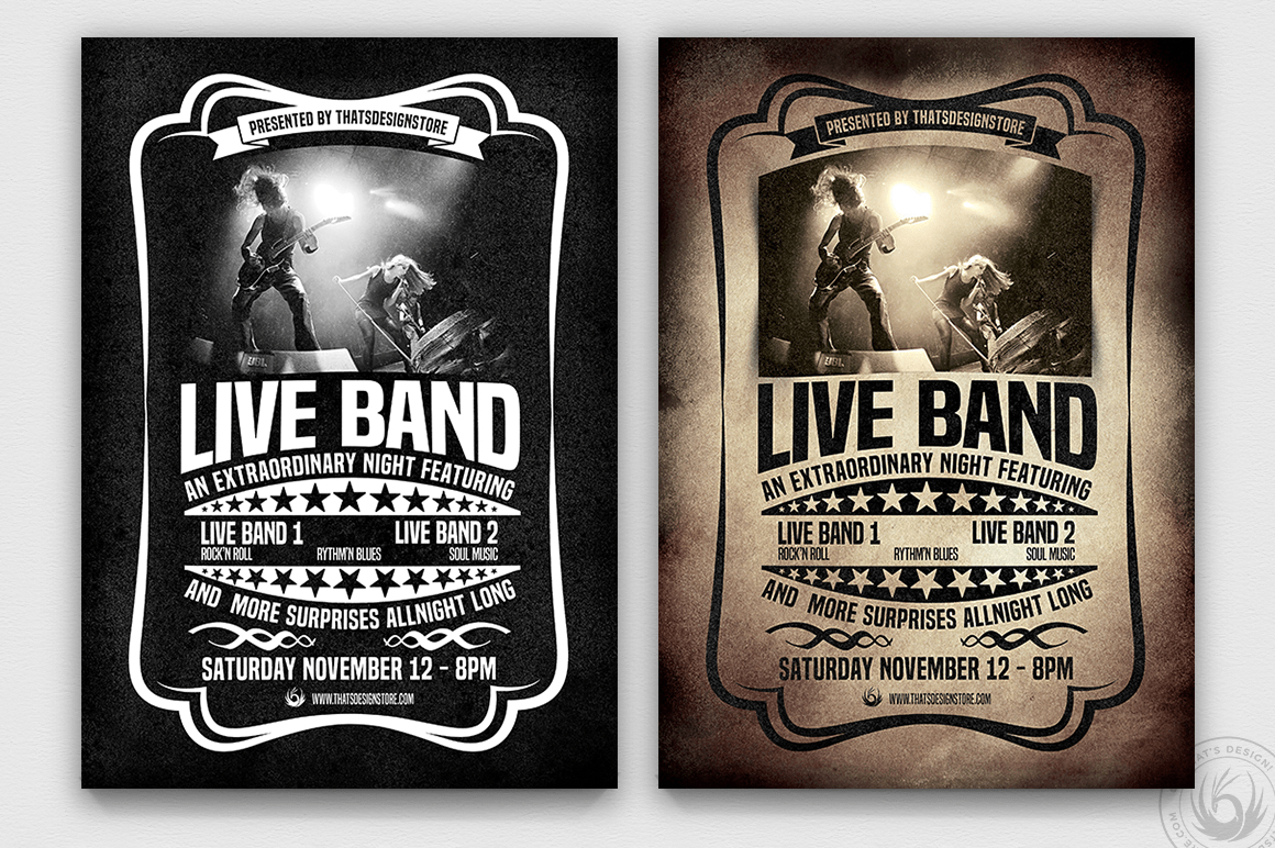Live Concert Flyer Poster Template Thats Design Store