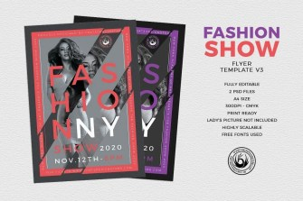 Fashion Show Flyer Template V3