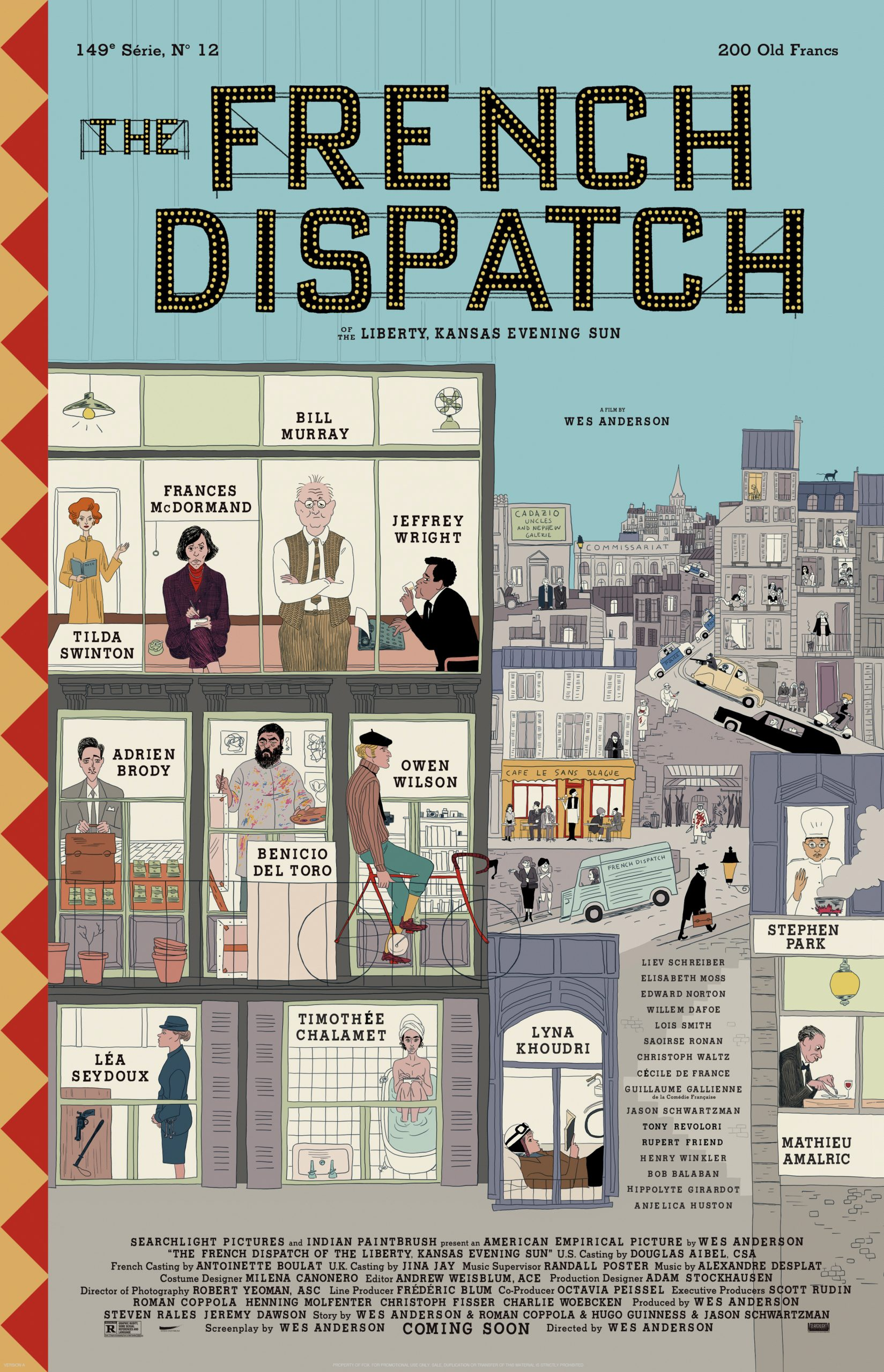 French Dispatch Trailer: Wes Anderson Brings All the Stars