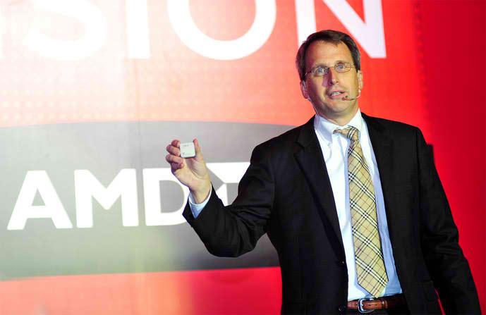Rick Bergman Holding a CPU