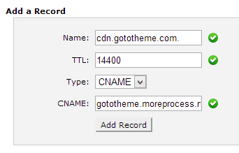 Add a CNAME record in cPanel