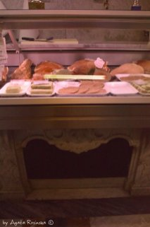 butchers counter and the meat