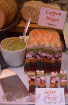 cappon magro in shop window