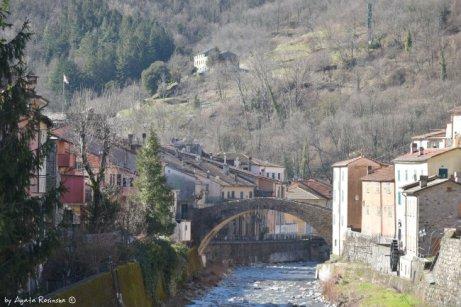 view on Varese Ligure bridge