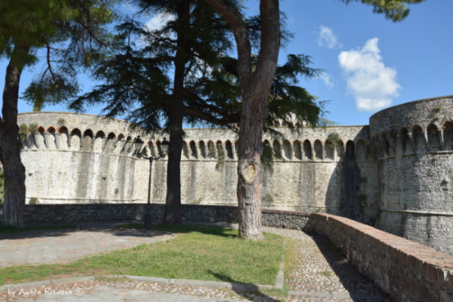 view on the fortress of Sarzana