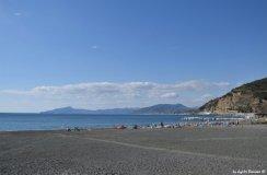 beach in Baia delle Favole view on gulf