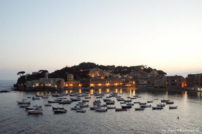 evening in Baia del Silenzio Sestri