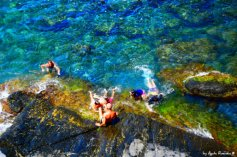 rocky beach in Liguria