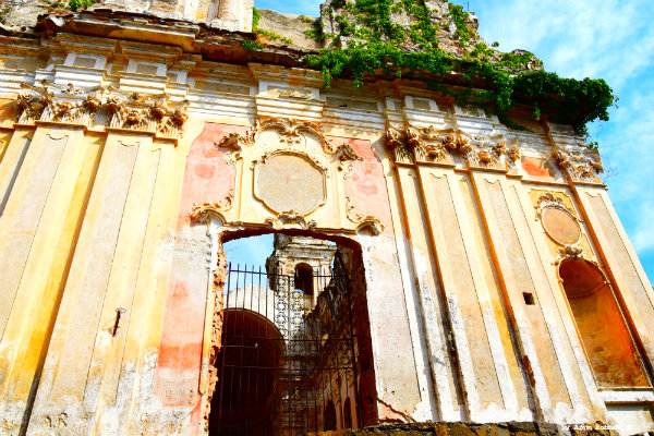 rests of the church in Bussana