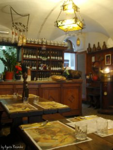 interiors of osteria in Portovenere