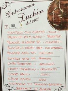 menu gastronomia