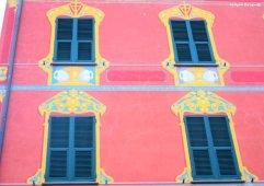 red facade Chiavari