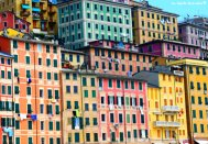 typical facades Camogli