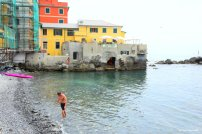 swimming in Boccadasse