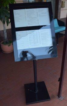 menu outside of a restaurant