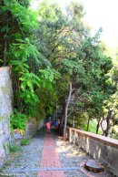 climbing to Cappucini church