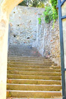 last steps before the Cappuccini church