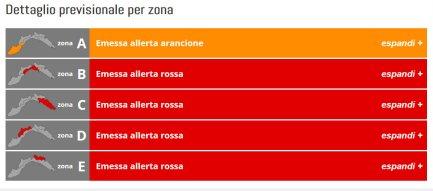 allerta rossa Liguria