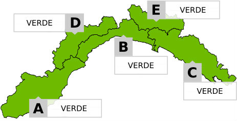 green level of weather alert liguria