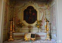 private chapel details Villa Durazzo