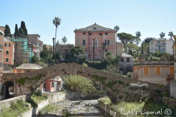 villa Gnecco and roman bridge Genova Nervi