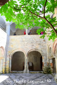 lower cloister San Fruttuoso Liguria