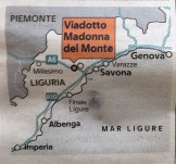 Place where motorway bridge was callapsed - picture from La Repubblica