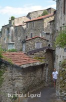 strolling outsiade old walls Triora