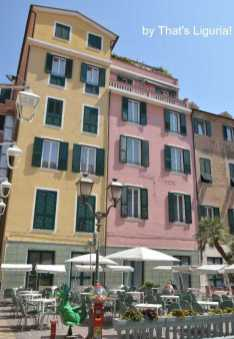 houses in historical centre of Alassio