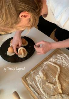 preparing cavagnetti