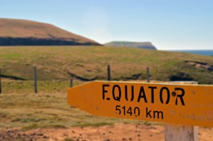 Sign pointing to the Equator