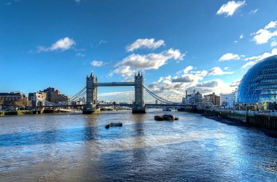 London City Hall and the Tower Bridge