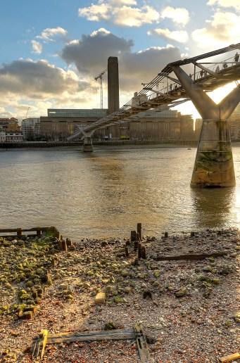 Millenium bridge over the river Thames, UK, London