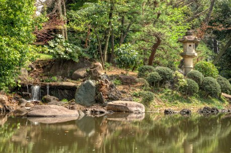Waterfall at Tokyo park