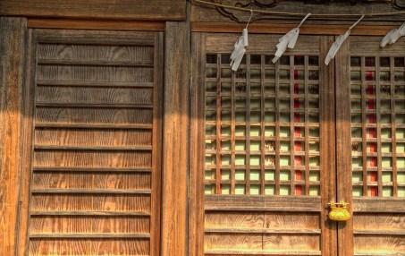 Wooden Temple Door