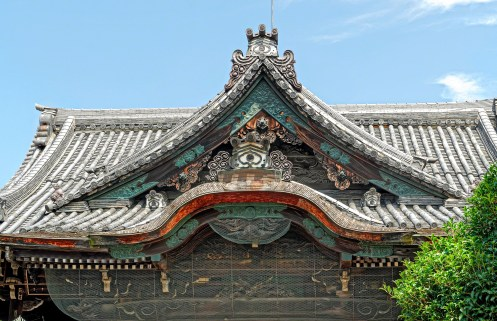 Closeup of Temple Roof detail