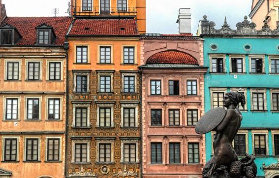 Buildings in Old Town Warsaw