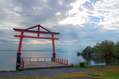 Torii by Lake Biwa