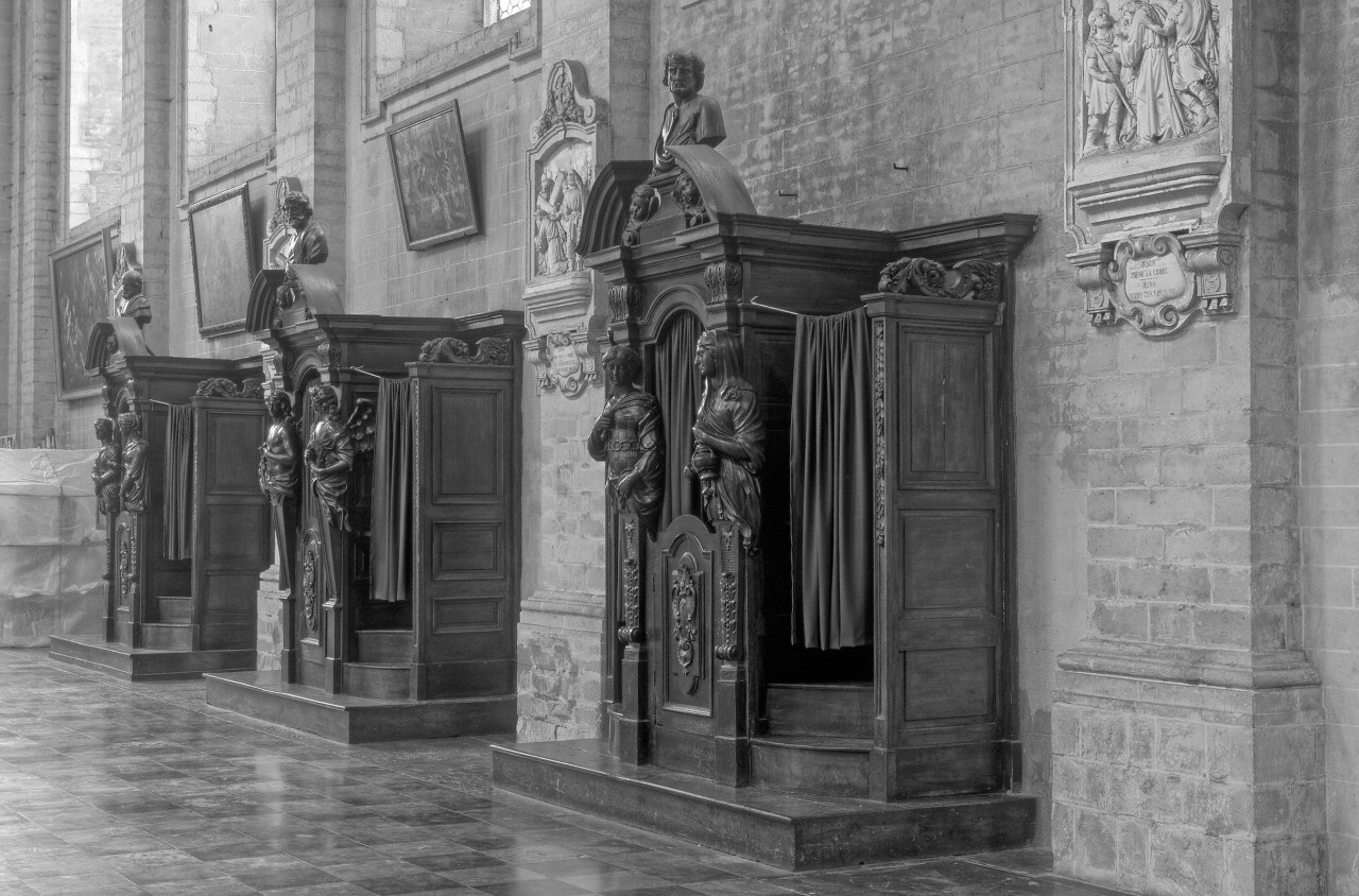 Old Wooden Church Confessionals