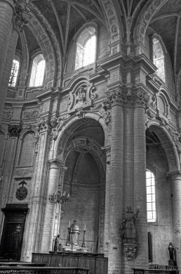 Beautiful Arches over the side Altar of the Church - Brussels, Belgium