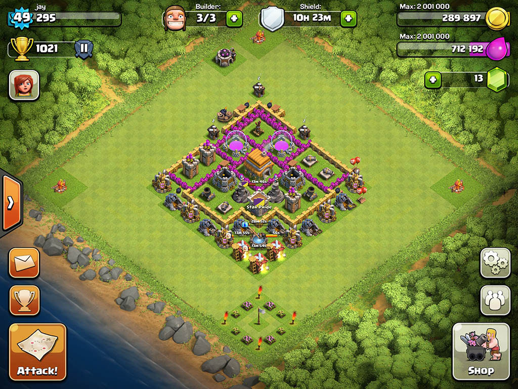 Clash of clans Town Hall 6 Trophy Base - 4