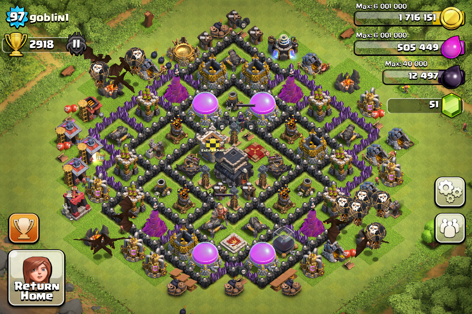 Top 10 clash of clans town hall level 9 defense base Good house map