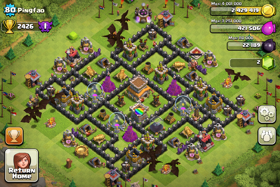 Top 10 Clash Of Clans Town Hall Level 8 Defense Base Design 10