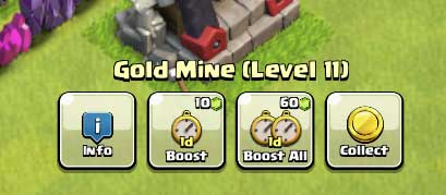 One-button-boost all Clash of Clans