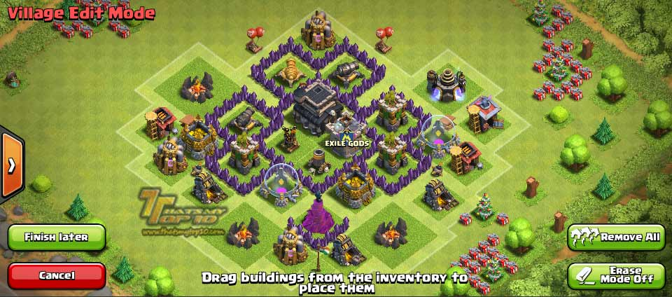 Clash Of Clans Town Hall Level 5 Defense - TH5 War Base 4 - Thats My Top 10