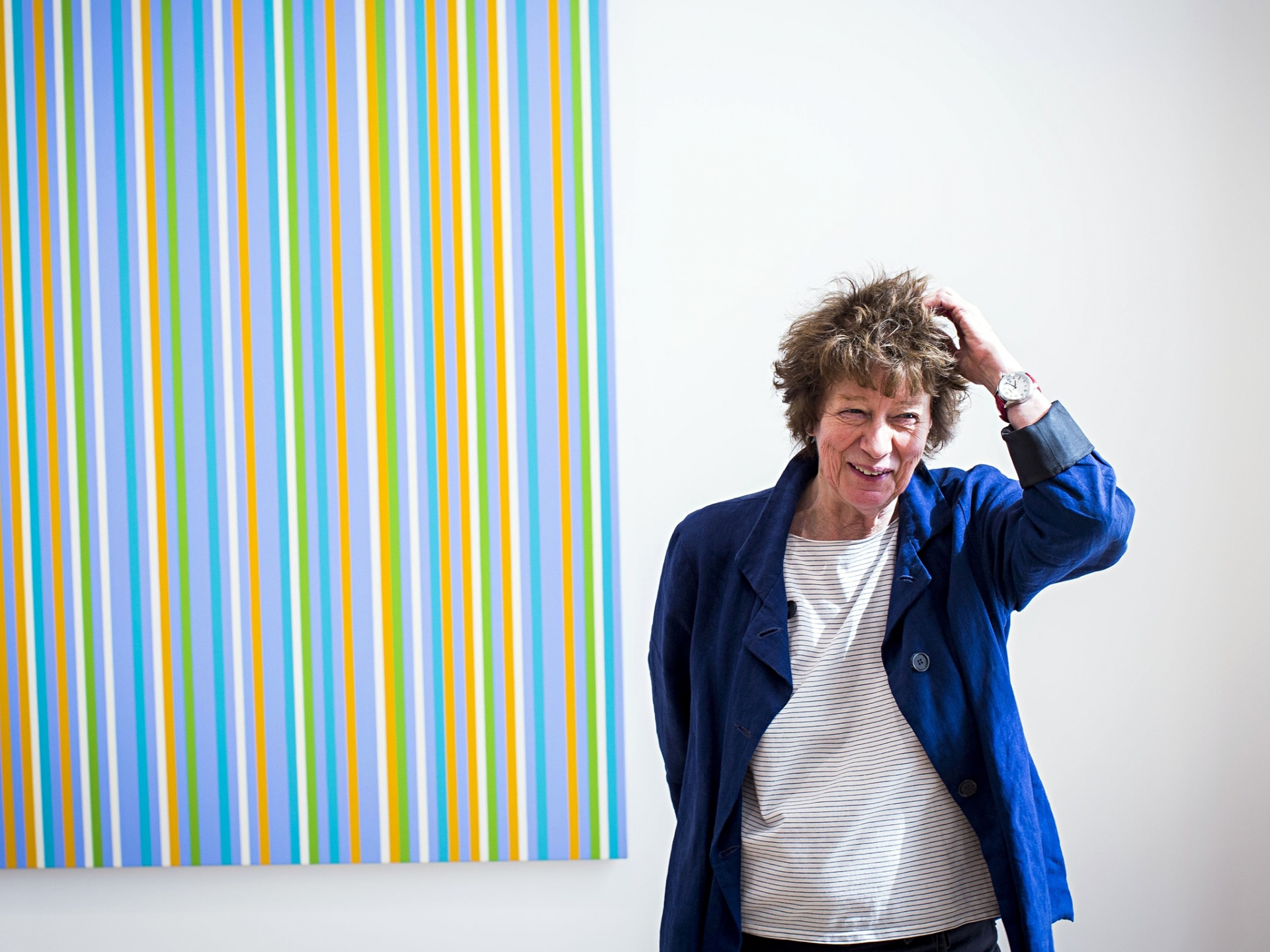 Wearing Stripes Bridget Riley And The Seaside Thats