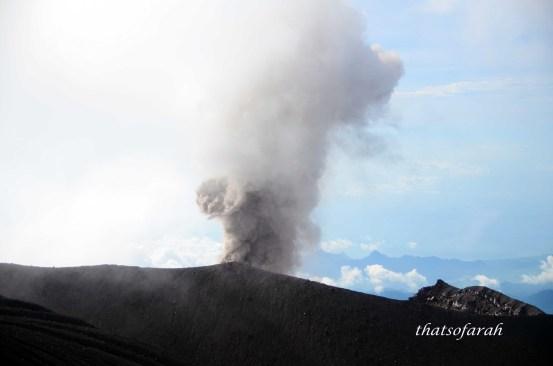 Semeru Interval Eruption